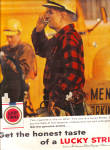 Click here to enlarge image and see more about item KAY128: 1959 Construction Workers Lucky Strike Ad