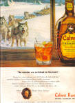 Click here to enlarge image and see more about item 140119B: 1948 Calvert Reserve Whiskey Husky Dog Ad