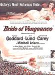 Click here to enlarge image and see more about item KDH45: 1949 Bride of Vengeance Paulette Goddard Ad