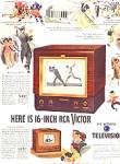 Click here to enlarge image and see more about item KDH46: 1949 RCA Victor Television Models AD