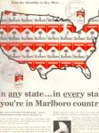 Click here to enlarge image and see more about item KEP063: 1964 MARLBORO U.S. MAP Ad