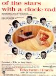 Click here to enlarge image and see more about item KIH125: 1956 TELECHRON Clock Radio Music Stars Ad