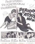 1962 Period Of Adjustment Jane Fonda Movie Ad
