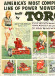 Click here to enlarge image and see more about item Lawn02: TORO Power Mower Sam Snead Byron Nelson 1950
