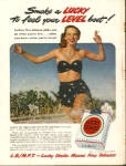 Click here to enlarge image and see more about item LS49: 1949 Lucky Strike Cigarettes AD