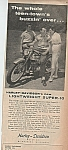 Click here to enlarge image and see more about item MH1693: Harley Davison motor cycle ad 1960