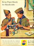 Click here to enlarge image and see more about item max002: 1960 Boy Scouts Indian kachina Pepsi Ad