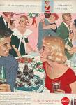 Coca Cola ad 1958 MISTLETOE AND MUSIC