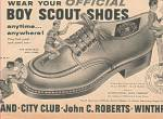 Click here to enlarge image and see more about item MH1689: Boy scout shoes ad 1963