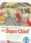Click here to enlarge image and see more about item MH177: Santa Fe super Chierf ad 1951