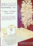 Click here to enlarge image and see more about item MH184a: Briggs beautyware - sandstone ad 1951