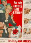 Click here to enlarge image and see more about item MH290: Lucky strike cigarettes ad