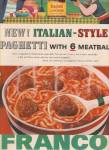 Click here to enlarge image and see more about item MH3431: franco American spaghetti with 6 meatballs ad 1957