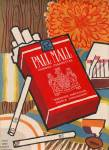 Pall Mall famous cigarettes ad 1957