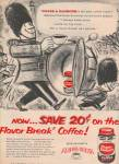 Chase & Sanborn instant coffee ad 1957 DRUM MAJOR