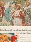 Click here to enlarge image and see more about item MH353: Aunt Jemima pancake mix ad 1955