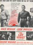 Click here to enlarge image and see more about item MH3831: 1961 Movie AD THE LAST SUNSET- Kirk Douglas Rock Hudson