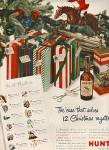 Click here to enlarge image and see more about item MH391: Hunter whiskey ad CHRISTMAS MYSTERY