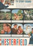 Click here to enlarge image and see more about item MH4176: 1958 Chesterfield Cigarettes Print AD  - EDDIE FISHER