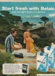 Click here to enlarge image and see more about item MH4296: Belair cigarettes ad 1972 PICNIC COUPLE