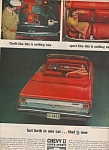 1963 CHEVY Chevrolet NOVA SPORTS II CAR AD