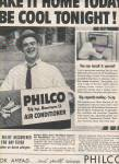 Philco air conditioner ad 1957