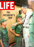 Click here to enlarge image and see more about item MH4576b: 1966 LIFE Magazine COVER - President Johnson in Vietnam