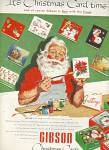 Click here to enlarge image and see more about item MH477: Gibson Christmas cards ad 1953