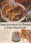 Banquet cookin bag foods ad 1971
