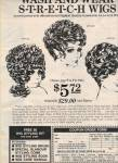 Wash & Wear stretch wigs ad 1972