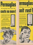 A.O.Smith permaglas hot water tanks ad 1952
