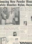 Snowy bleach ad 1951
