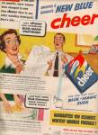 Cheer blue magic suds ad 1953