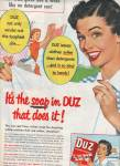 Click here to enlarge image and see more about item MH5604: Duz washing soap ad 1953