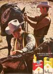 Click here to enlarge image and see more about item MH5829: Marlboro cigarettes ad 1969 TWO COWBOYS