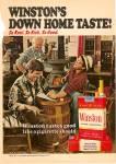 Winston's cigarettes ad 1972