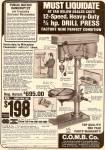 C.O.M.B.   Co. Drill press ad 1980