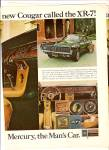 Mercury Cougar XR-7 ad 1967