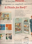 Click here to enlarge image and see more about item MH3130: Philco refrigerator & stove ad 1953