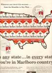 Marlboro cigarettes ad 1961 IN ANY STATE