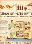 Click here to enlarge image and see more about item MH6143: Westinghouse refrigerator with cold injector ad 1958