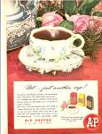 Click here to enlarge image and see more about item MH6180: A & P Coffee ad 1946