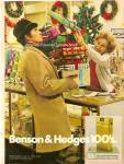 Click here to enlarge image and see more about item MH6234: Benson & Hedges 100's ad 1971