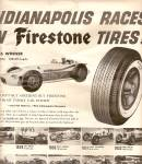 Click to view larger image of Firestone tires - Indianapolis races ads 1956 (Image1)