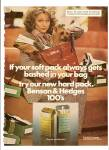 Click here to enlarge image and see more about item MH6309: Benson & Hedges 100s cigarettes ad 1975