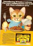 Whisker Lickins cat food ad 1975