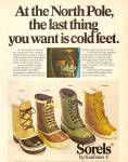 Click here to enlarge image and see more about item MH6417: Sorels by Kaufman boots ad 1979