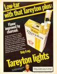 Click here to enlarge image and see more about item MH6441: Tareyton lights  ad 1977