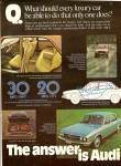 Click here to enlarge image and see more about item MH6452: Audi autom,obile ad 1976