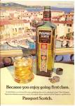 Click here to enlarge image and see more about item MH6481: 1979 Passport Scotch AD on the Riviera by Calvert
